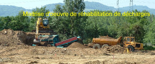 r�habilitation de d�charges et sites d'incin�ration